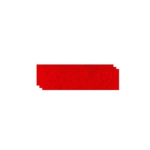 GLOREX Bastelfilz (40 x 30 cm) rot, 4 mm dick, 3 Filzplatten