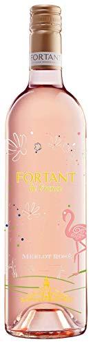 6x-075l-2017er-Fortant-de-France-Merlot-Ros-serigraphiert-Pays-dOc-IGP-Languedoc-Frankreich-Ros-Wein-halbtrocken