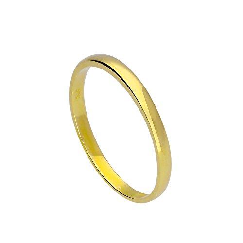 9 Karat (375) Gold 2mm Ehering Größen 48 – 63