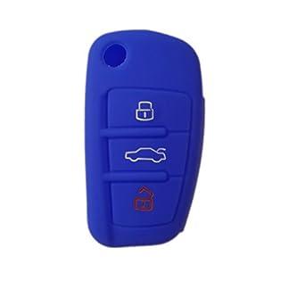 Nicky-Schutzhlle-fr-Audi-3-Tasten-Autoschlssel-Klappschlssel-Hlle-Auto-Schlssel-Silikon-Tasche
