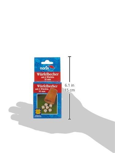 Noris-Spiele-606154318-Lederwrfelbecher-mit-6-Wrfeln
