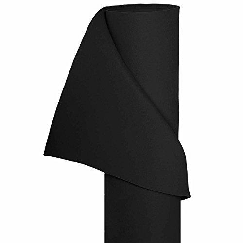 HaGa® Filz Bastelfilz Filzstoff Dekostoff Filzwolle 1,5m Br. (Meterware) schwarz