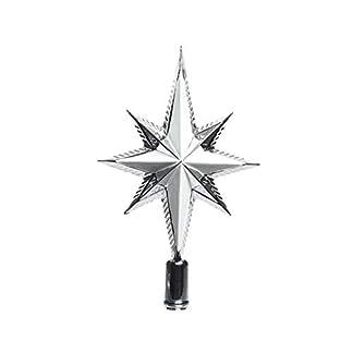 Baumspitze-Stern-Glitter-25cm-Kunststoff-silber-bruchfest-Christbaumschmuck-Weihnachtsdeko-Christbaumspitze-Weihnachtsbaumspitze-Baumspitze-Tannenbaumspitze