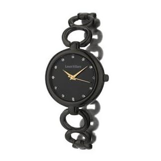 Louis-Villiers-Unisex-Analog-Quarz-Uhr-mit-Stoff-Armband-AL0583-06
