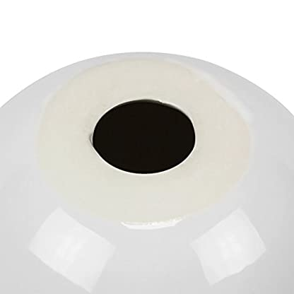 XXL-Keramik-Moderne-Deko-Kugel-Tischdeko-D-19-cm-Gren-wei-glnzend-Ball