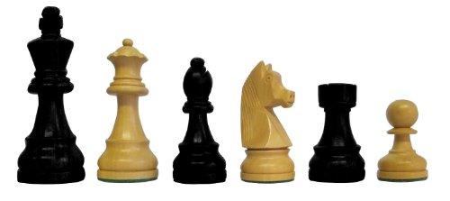 schachqueen bundesliga turnier schachfiguren schwarz wei classic holz k nigsh he 97 mm. Black Bedroom Furniture Sets. Home Design Ideas
