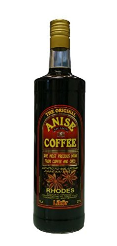 Kaffee-Ouzo-Likr-1-Liter-Flasche-Kaffeelikr-21-Vol-Anis-Coffee-Liquer-aus-Rhodos-Griechenland