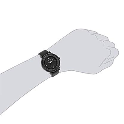 Stahlbergh-Hamar-Damenuhr-Quarzuhr-Metall-schwarzschwarz-Przisions-Quarzwerk-3-ATM-verziert-mit-Kristallen-von-Swarovski-Lederarmband-Quarzuhr-mit-StundeMinuteSekunde-Anzeige