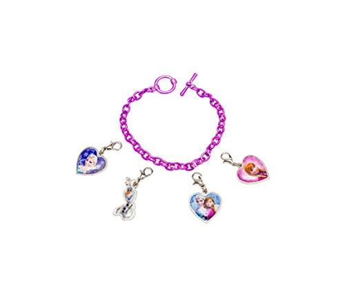 Disney 755733 – Frozen Armband mit 4 verschiedenen Anhängern zum Anmachen 12 x 2.5 x 20 cm