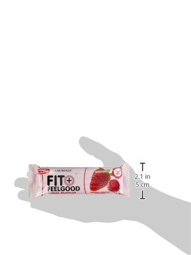 Layenberger Fit + Feelgood Mahlzeitenersatz Riegel Himbeer-Erdbeer, 15er Pack (15 x 57 g)