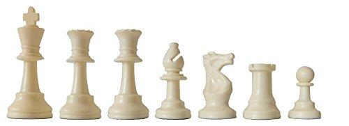 SchachQueen-Schachfiguren-Plastik-beschwert-Knigshhe-97-mm-schwarzwei