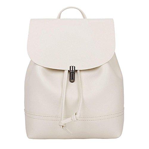 Damen-Tasche-FORH-Vintage-Solide-PU-Leder-Schultasche-Mdchen-Rucksack-Freizeit-Outdoor-Satchel-Casual-Umhngetasche-Wasserdichter-Modischer-Backpack-Daypacks