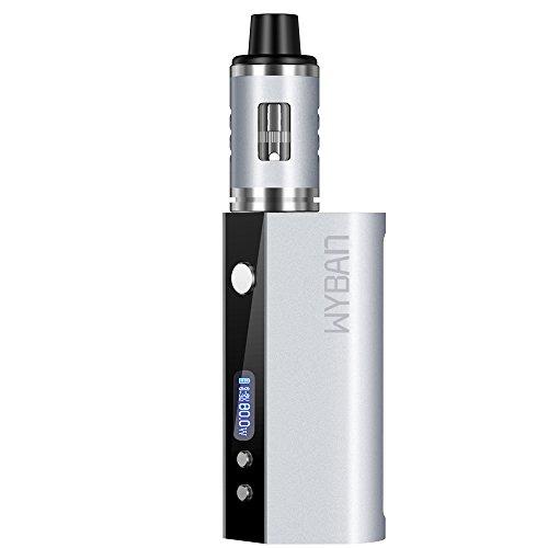 WYBAN E Zigarette Dampfen E-Zigarette 80W 2600mAh LCD Display Box Mod Akkuträger E Zigaretten Set Miit Sub 0.3 Ohm OCC Coil Atomizer Verdampfer Starterset Ohne Nikotin (Silber)