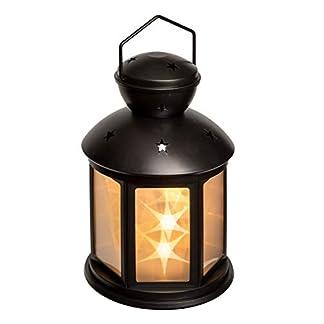 Idena-31336-LED-Laterne-Stern-schwarz-2-Modi