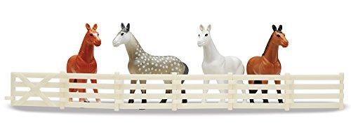 Melissa-Doug-19409-Pferde-Aktivittenteppich-mit-Ranch-4-Pferdchen-und-einem-faltbaren-Zaun-99-x-91-cm