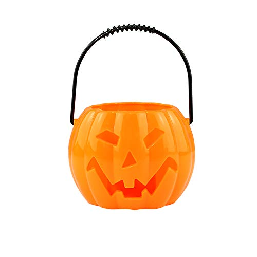 Xiton-kleine-Plastikkrbis-Laterne-Halloween-Partei-Sttzen-Sigkeits-Eimer-fr-Kinder-orange-1PCS