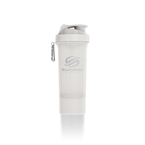SmartShake 500 ml/18 oz, weiß Slim neon, 1er Pack