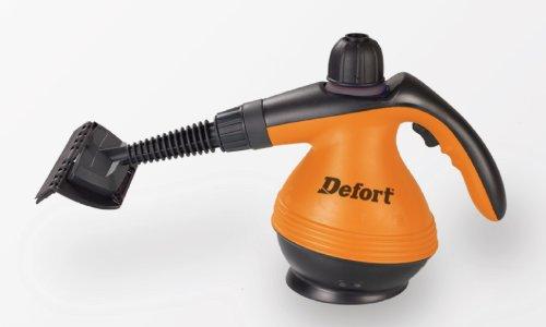 Defort-Dampfreiniger-mit-1200-W-und-3-bar-Druck-Spitzdse-Verlngerungsschlauch-mit-Dse-Messbecher-Einflltrichter-Rundbrste-Winkeldse-DSC-1200