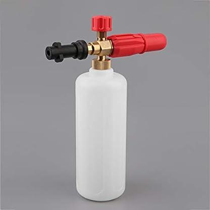 Hochdruck-HD-Messingschaum-Gewehr-mit-1L-messender-Flasche-fr-Krcher-K-Reihen-Fahrzeug-Auto-Waschmaschinen-kompatible-Schneeschaum-Lanze