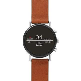 Skagen-Herren-Smartwatch-mit-Leder-Armband-SKT5104