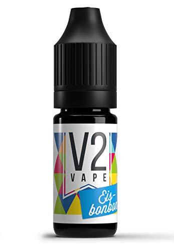 V2 Vape Eisbonbon AROMA / KONZENTRAT hochdosiertes Premium Lebensmittel-Aroma zum selber mischen von E-Liquid / Liquid-Base für E-Zigarette und E-Shisha 10ml 0mg nikotinfrei