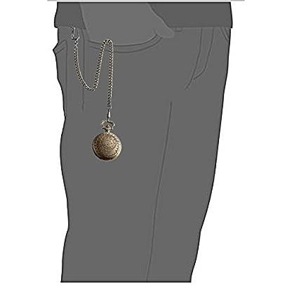 SIBOSUN-Antik-Manner-Taschenuhr-Mit-Kette-Doctor-Who-Dr-wer-Kette-Box-Kunstlederschnur