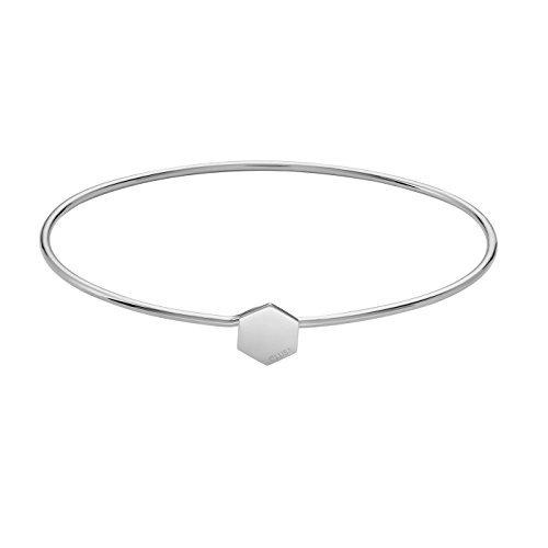 Cluse Essentielle Silber Hexagon-Armreif – CLJ12001