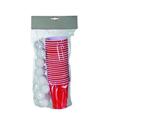 Out-of-the-blue-793936-Trinkspiel-Beer-Pong-15-Bllen-und-22-Trinkbechern-fr-circa-550-ml-im-Polybeutel-mit-Headercard