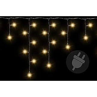 Lichterkette-Auen-400-LED-Warm-Wei-Eisregen-Eiszapfen-Transparentes-Kabel-Auen-Weihnachtsdeko-Partylichter-Weihnachtsbeleuchtung-IP44-10m-Kabel-Zuleitung