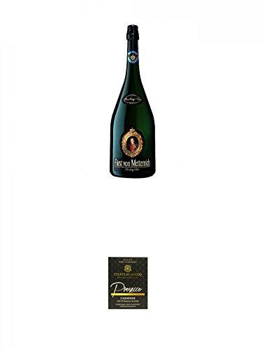 Frst-von-Metternich-Riesling-Sekt-Trocken-30-Liter-Magnumflasche-Chateau-du-COQ-Prosecco-Kondom-3er-Packung