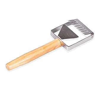 Anano-Honey-Entdeckelungsgabel-Honey-Bee-Edelstahl-Uncapping-Scraper-Knife-Tool