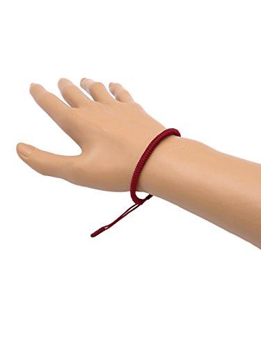 BENAVA Tibetisches Glücksarmband Rot Handgemacht Freundschaftsarmband Minimalistisch