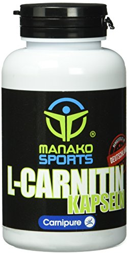 manako sports L-Carnitin Kapseln (Original Carnipure™), 120 Stück a 600 mg, Dose a 84 g (1 x 120 Kapseln)