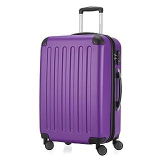 HAUPTSTADTKOFFER-Spree-Hartschalen-Koffer-Koffer-Trolley-Rollkoffer-Reisekoffer-Erweiterbar-TSA-4-Rollen-65-cm-74-Liter-Lila