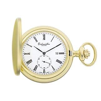 Eichmller-Since-1950-Taschenuhr-Goldfarben-Quarzwerk-Kleine-Sekunde-Datum-incl-Kette-8211-03