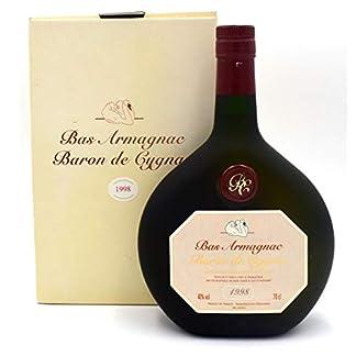 Raritt-Armagnac-Baron-de-Cygnac-07l-Jahrgang-1998-inkl-Geschenkkarton