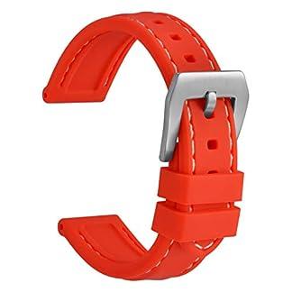 WOCCI-Silikon-Gummi-Uhrenarmband-Whlen-Sie-Farbe-und-Breite-Ersatz-Armband