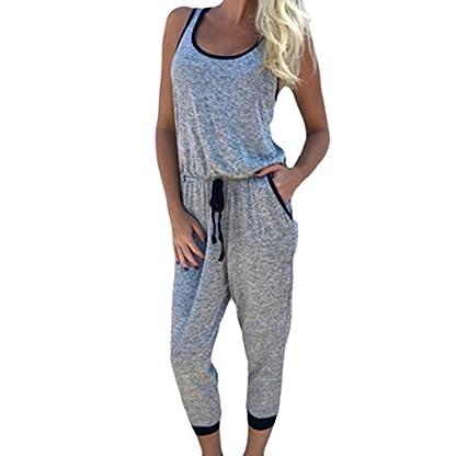 Sunnywill-damen-tshirt-Damen-Tshirt-Oberteile-Elegant-Sommer-Jumpsuits-Overall-Kurzarm-Riemchen-Sport-Playsuits-Bandage-Grtel-Strampler-Overall