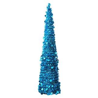 ECOSWAY-Faltbar-Mehrfarbig-PVC-Knstlich-Weihnachtsbaum-Bling-Pailletten-Heim-Dekoration-Weihnachten-Bume-fr-Ereignis-Party-Dekorativ-Requisiten-mit-Untersttzung-Halterung-15m-5ft