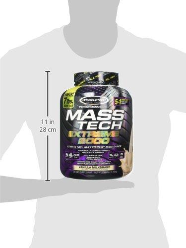 Muscletech Performance Series Mass Tech Extreme 2000 (7lbs) Vanilla Milkshake, 3.175 kg