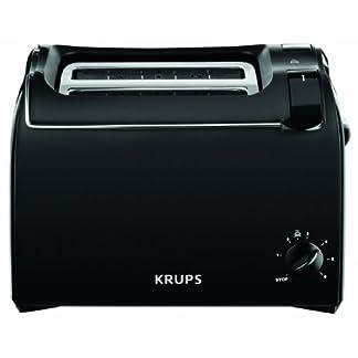 Krups-KH1518-Toaster-Aroma-2-Scheiben-700-W-Brtchenaufsatz-schwarz
