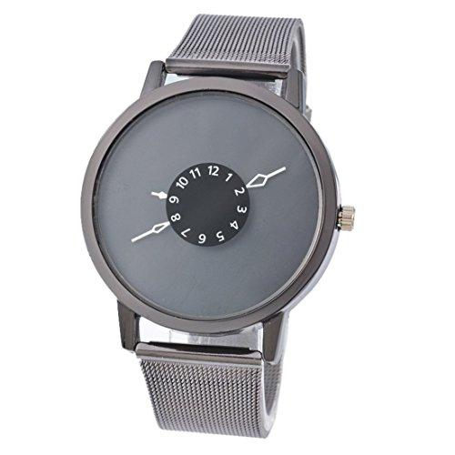 Souarts-Damen-Schwarz-Edelstahl-Uhrarmband-Armbanduhr-Quartzuhr-Sommer-Uhr-mit-Batterie
