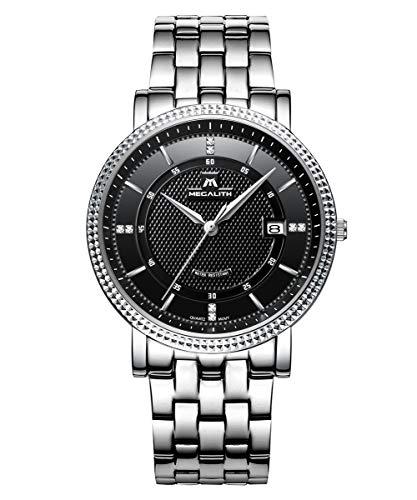 Herren-Uhren-Edelstahl-Mnner-Wasserdicht-Luxus-Datum-Kalender-Sport-Analog-Quarz-Mode-Kleid-Armbanduhr-Geschfts-Beilufig-Einfach-Design-Dnn-Uhr-mit-Schwarz-Zifferblatt-Silber-Uhrenarmband