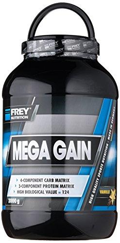 Frey Nutrition Mega Gain Vanille Dose, 1er Pack (1 x 3 kg)