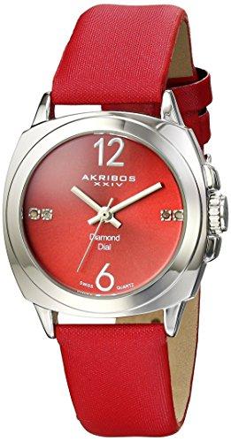 Akribos-XXIV-Damen-Armbanduhr-Empire-Analog-Quarz-mit-Textilband