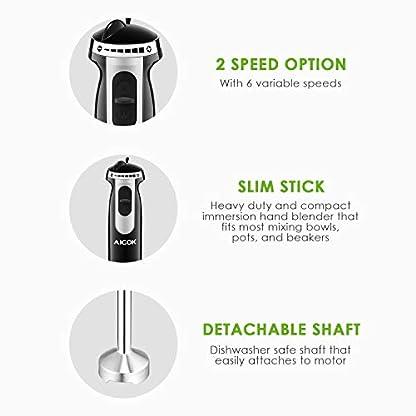 Aicok-4-in-1-Stabmixer-800W-6-Geschwindigkeit-Prierstab-mit-500ml-Kchenmaschine-Aufsatz-und-800ml-Becherglas-Schneebesen-fr-Smoothie-Suppen-Babynahrung-Robustem-Edelstahl