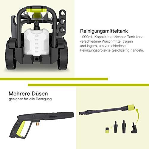 Hochdruckreiniger-Autlead-HP03A-Premium-Reiniger-mit-hoher-Pumpleistung-140-bar-468-LiterStunde-leistungsstarker-Hochdruckreiniger-mit-Druckregler-und-3-verschiedenen-Dsen-1800-Watt-5-m-Kabel-5-m-Schl