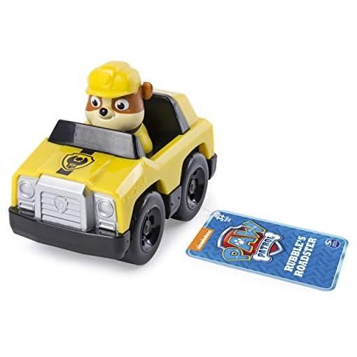 PAW-PATROL-Rescue-Racer-modell-RUBBLE-ROADSTER-8cm-Fahrzeug-SPIN-MASTER-Original