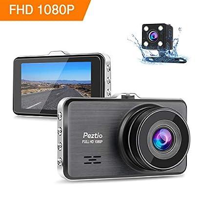 Dashcam-Full-HD-1080P-Autokamera-3-Zoll-IPS-Dashcam-Auto-Vorne-Hinten-with-Nachtsicht-170-Weitwinkelobjektiv-G-Sensor-Loop-Aufnahme-Bewegungserkennung-Parkmonitor-WDR
