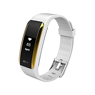 Yumimi88-Fitness-Armband-Wasserdicht-Fitness-Trackers-mit-Pulsmesser-Aktivittstracker-Kalorienzhler-PulsuhrenSchrittzhler-Vibrationsalarm-Anruf-SMS-fr-iOS-Android-Handy